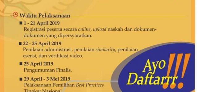 PEMILIHAN BEST PRACTICES KEPALA SEKOLAH TAHUN 2019